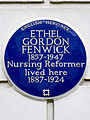 ETHEL GORDON FENWICK 1857-1947 Nursing Reformer lived here 1887-1924.jpg