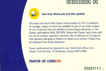 The Back Of A First Generation Oyster Card