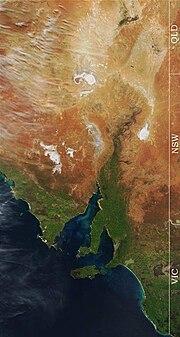 Eastern South Australia Satellite Photo