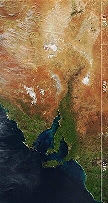 South Australia-Geography-Eastern South Australia Satellite Photo