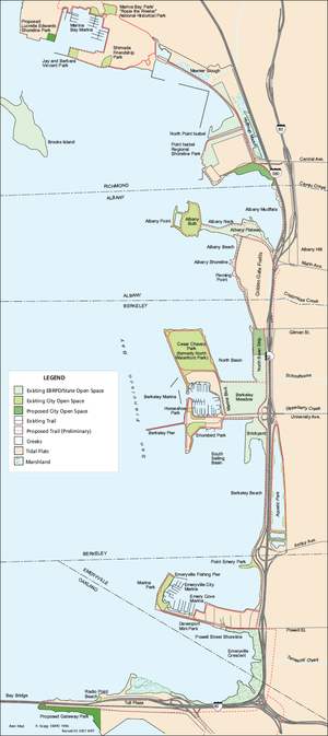 McLaughlin Eastshore State Park - Map of Eastshore State Park