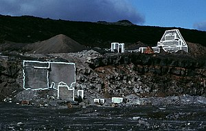 Environmental sculpture - Eberhard Bosslet construction drawing La Restinga II, El Hierro, 1983