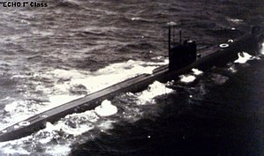 Echo-class submarine - Nuclear-powered submarine of Project 659 (Echo I) re-equipped into attack submarine of Project 659T