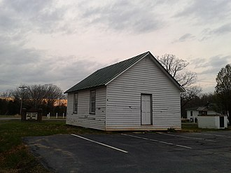 National Register of Historic Places listings in Culpeper County, Virginia - Image: Eckington School at dusk