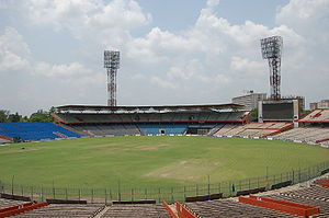 A picture of the Eden Gardens stadium before t...