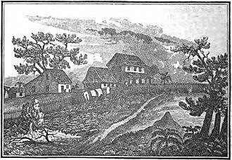Edina, Liberia - Baptist Mission circa 1840