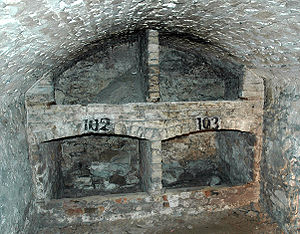 Edinburgh Vaults - One of the vaults used as storage space