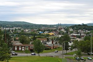 Edmundston - Image: Edmundston NB skyline