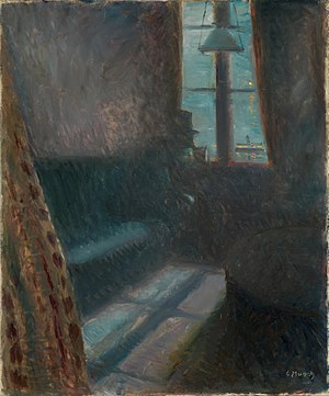 The Kiss (Munch painting) - Night in Saint-Cloud (1890)