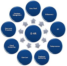 electronic human resources   wikipediae hr diagram showing some of the different aspects that affect e hr
