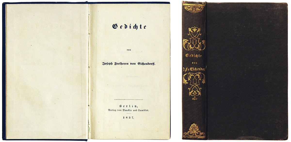 Dateieichendorff Gedichte 1837jpg Wikipedia