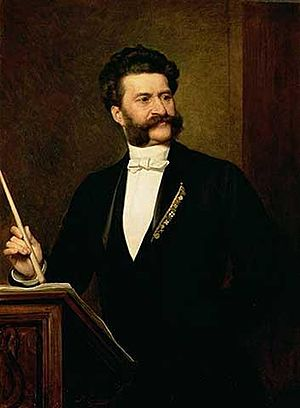 August Eisenmenger - Portrait of Johann Strauss, the Younger (1888)