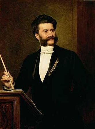 August Eisenmenger - Portrait of Johann Strauss, the Younger (1888)