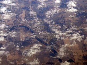 Eldon, Iowa - Aerial photo of Eldon (2013).