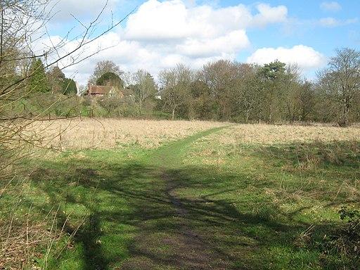 Elham Valley Way leads towards Kingston - geograph.org.uk - 1777866