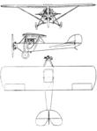 Elias Aircoupe 3-view Le Document aéronautique March,1929.png