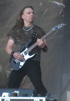 Elias Viljanen al Sauna open air metal festival 2007