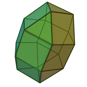 Elongated triangular gyrobicupola - Image: Elongated triangular gyrobicupola