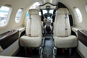 Embraer Phenom 100 - interior cabin