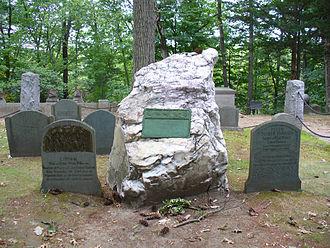 Ralph Waldo Emerson - Emerson's grave in Sleepy Hollow Cemetery, Concord
