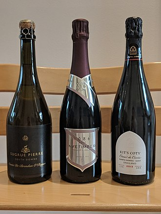 English sparkling wine - Prestige cuvées from three English sparkling wine producers: Nyetimber, Chapel Down and Sugrue Pierre.