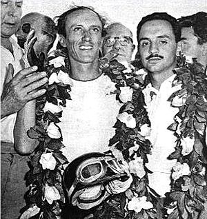 1955 1000 km Buenos Aires - Valiente/Ibanez - Winners of the 1000 km of Buenos Aires