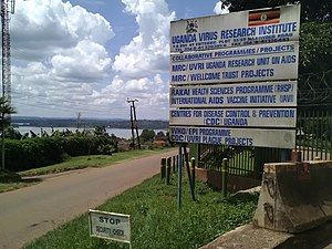 Entebbe: Entebbe UVRI sign post