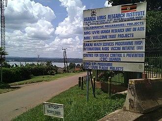 Entebbe - Image: Entebbe UVRI sign post