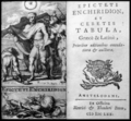 Epicteti enchiridion et cebetis Tabula, 1670, Frontispiece and title page.png