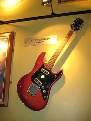 Epiphone - ET-270T with Kurt Cobain's autograph.