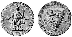 Eric VI of Denmark - Seal and counter-seal of Eric VI. The small eagles are references to his mother, Agnes of Brandenburg.