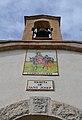 Espadanya i panell ceràmic a la façana de l'ermita de sant Josep, la Vall de Laguar.JPG