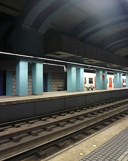 railway station in Barcelona on the Barcelona Metro and Metro del Vallès