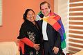 Esther Morales, hermana del presidente de Bolivia Evo Morales se reunió con el Canciller Ricardo Patiño (8001318681).jpg