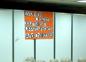 One of the Citizen Journalism Unconference pos...