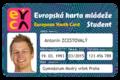Evropská karta mládeže EYCA - student.png