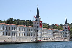 Kuleli Military High School - The building of the Kuleli Military High school near Bosporus.