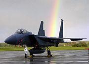 F-15 Eagle at RAF Lakenheath with rainbow