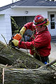 FEMA - 35424 - Fire Specialist clearing a downed tree from a residence in Iowa.jpg