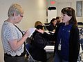 FEMA - 43552 - Disaster Recovery Center Public Information Office talks to press.jpg