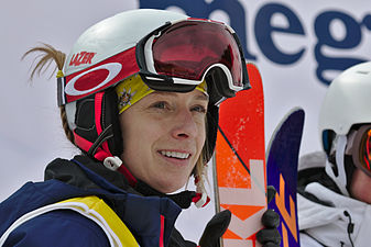 FIS Moguls World Cup 2015 Finals - Megève - 20150315 - Hannah Kearney 2.jpg