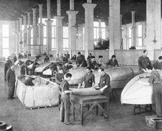 Fábrica Argentina de Aviones - 1930s view of the FMA workshop