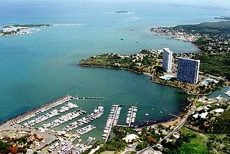 Fajardo, Puerto Rico - Aerial view of Fajardo's basin