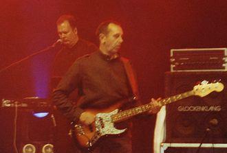 Kurt Dahlke - Dahlke (left, keyboards) and Michael Kemner (bass) playing with Fehlfarben in Hagen in 2006