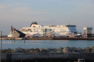 MyFerryLink - Berlioz at the Port of Calais in August 2012