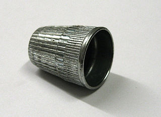 Thimble protective cup used during sewing