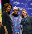 First Lady Michelle Obama and Deputy Secretary Higginbottom With 2014 IWOC Awardee Fatimata Touré of Mali.png