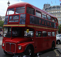 First London bus RM1776 (776 DYE), 1963 Heritage Routemaster, route 9, 8 June 2013 (1).jpg