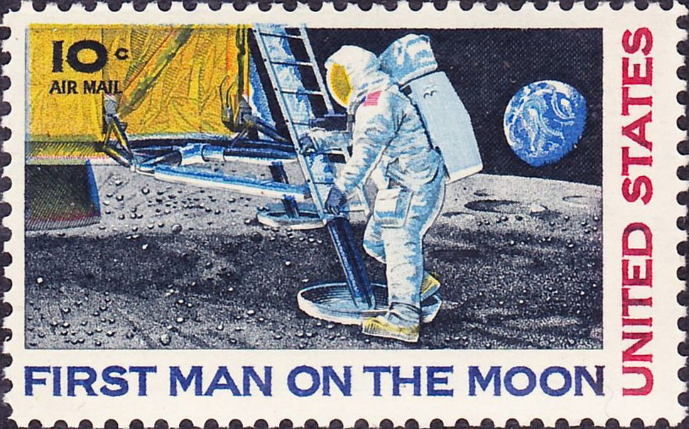First Man on Moon 1969 Issue-10c