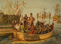 First Voyage, Departure for the New World, August 3, 1492.jpg